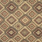 J766 Southwest Style Diamond Upholstery Fabric | Burgundy Beige Green Upholstery Fabric By The Yard