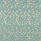 """54"""""""" Wide F604 Light Blue, Floral Leaf Outdoor, Indoor, Marine Scotchgarded Fabric By The Yard"""