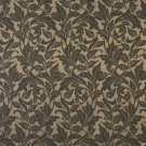 "54"""" Wide F607 Black, Floral Leaf Outdoor, Indoor, Marine Scotchgarded Fabric By The Yard"