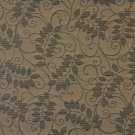 """54"""""""" Wide F631 Black, Floral Vine Outdoor, Indoor, Marine Scotchgarded Fabric By The Yard"""