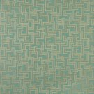 """54"""""""" Wide F632 Light Blue, Geometric Outdoor, Indoor, Marine Scotchgarded Fabric By The Yard"""