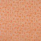 "54"""" Wide F635 Orange, Geometric Outdoor, Indoor, Marine Scotchgarded Fabric By The Yard"