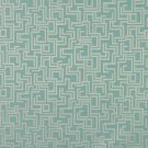 "54"""" Wide F636 Light Blue, Geometric Outdoor, Indoor, Marine Scotchgarded Fabric By The Yard"