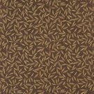 """54"""""""" Wide E209 Brown Gold Floral Leaf Residential Contract Grade Upholstery Fabric By The Yard"""