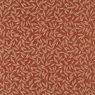 "54"""" Wide E213 Rust Red Floral Leaf Residential And Contract Grade Upholstery Fabric By The Yard"
