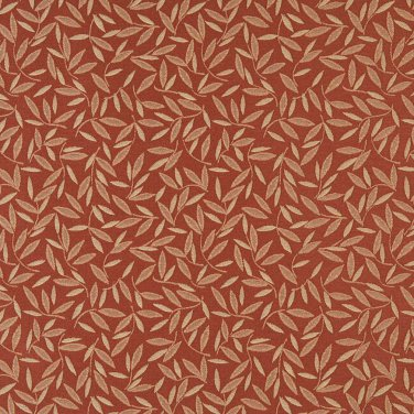 """54"""""""" Wide E213 Rust Red Floral Leaf Residential And Contract Grade Upholstery Fabric By The Yard"""