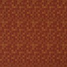 E256 Red Orange Small Scale Geometric Boxes Residential Contract Grade Upholstery Fabric By The Yard