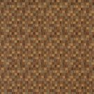 E260 Gold Green Small Scale Geometric Boxes Residential Contract Grade Upholstery Fabric By The Yard
