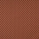 E265 Orange Red Gold Polka Dot Diamond Residential Contract Grade Upholstery Fabric By The Yard
