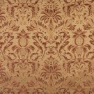 F552 Sage Green Orange Gold Burgundy Floral Pineapple Damask Upholstery Drapery Fabric By The Yard