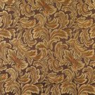"""54"""""""" Wide F572 Brown Bronze Gold Ivory Floral Leaf Damask Upholstery Drapery Grade Fabric By The Yar"""