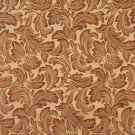 "54"""" Wide F574 Gold Green Purple Floral Leaf Damask Upholstery Drapery Grade Fabric By The Yard"