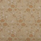 "54"""" Wide D121 Gold, White And Red, Paisley Floral Brocade Upholstery Fabric By The Yard"