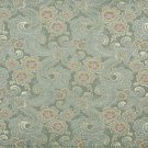 "54"""" Wide D122 Gold, Pink And Blue, Paisley Floral Brocade Upholstery Fabric By The Yard"