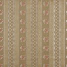 "54"""" Wide D128 Gold, White And Red, Floral Striped Brocade Upholstery Fabric By The Yard"