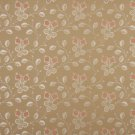 """54"""""""" Wide D144 Gold, White And Red, Floral Brocade Upholstery Fabric By The Yard"""
