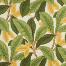"54"""" Wide C408 Green And Gold, Floral Leaf Outdoor, Indoor, Marine Upholstery Fabric By The Yard"