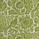 """54"""""""" Wide C417 Green And Ivory, Floral Abstract Outdoor, Indoor, Marine Upholstery Fabric By The Yar"""