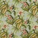 """54"""""""" Wide C426 Green, Blue And Red, Floral Outdoor, Indoor, Marine Upholstery Fabric By The Yard"""