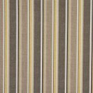 "54"""" Wide C427 Grey, Beige And Gold, Striped Outdoor, Indoor, Marine Upholstery Fabric By The Yard"