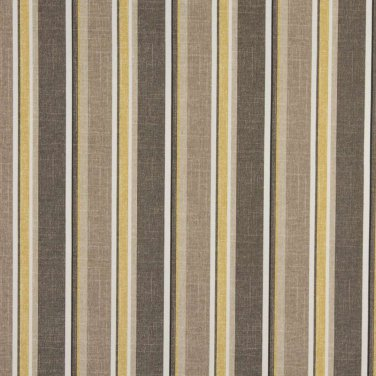 """54"""""""" Wide C427 Grey, Beige And Gold, Striped Outdoor, Indoor, Marine Upholstery Fabric By The Yard"""