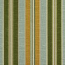 """54"""""""" Wide C428 Gold, Blue And Green, Striped Outdoor, Indoor, Marine Upholstery Fabric By The Yard"""