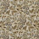 """54"""""""" Wide C438 Brown Green Blue Floral Leaf Outdoor Indoor Marine Upholstery Fabric By The Yard"""
