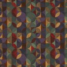 """54"""""""" Wide F513 Purple, Green And Red, Geometric Chenille Upholstery Fabric By The Yard"""