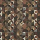 """54"""""""" Wide F514 Grey, Green And Brown, Geometric Chenille Upholstery Fabric By The Yard"""