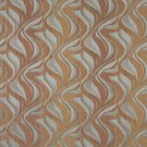 """54"""""""" Wide F516 Brown And Blue, Abstract Flame Chenille Upholstery Fabric By The Yard"""