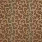 "54"""" Wide F524 Brown, Blue And Gold, Abstract Chenille Upholstery Fabric By The Yard"