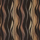 "54"""" Wide F530 Brown And Black, Abstract Striped Chenille Upholstery Fabric By The Yard"