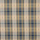 "54"""" Wide J490 Blue, Green, Gold And Red, Plaid Upholstery Grade Fabric By The Yard"
