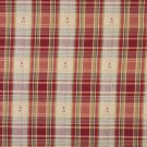 "54"""" Wide J491 Red, Green And Gold, Plaid Upholstery Grade Fabric By The Yard"