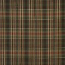 "54"""" Wide H477 Gold, Green And Red, Textured Plaid Upholstery Grade Fabric By The Yard"