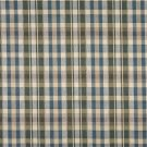"54"""" Wide H487 Ivory, Blue And Green, Textured Plaid Upholstery Grade Fabric By The Yard"