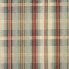 "54"""" Wide F140 Green, Blue And Red, Plaid Chenille Upholstery Grade Fabric By The Yard"