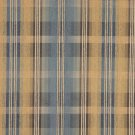 """54"""""""" Wide F154 Blue, Brown And Gold, Plaid Chenille Upholstery Grade Fabric By The Yard"""