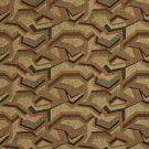"54"""" Wide F851 Green, Peach, And Blue, Geometric Chenille Upholstery Fabric By The Yard"
