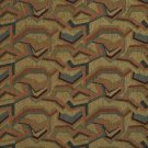 "54"""" Wide F854 Burgundy, Orange, Blue And Green, Geometric Chenille Upholstery Fabric By The Yard"