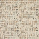 "54"""" Wide F859 Orange, Grey And Ivory, Geometric Chenille Upholstery Fabric By The Yard"