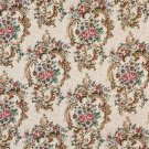 """54"""""""" Wide F640 Green, Blue And Burgundy, Floral Tapestry Upholstery Fabric By The Yard"""