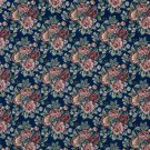 """54"""""""" Wide F647 Navy, Red, Green And Orange, Floral Tapestry Upholstery Fabric By The Yard"""