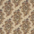 "54"""" Wide F665 Burgundy, Beige And Green, Floral Bouquet Tapestry Upholstery Fabric By The Yard"