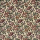 "54"""" Wide F673 Burgundy, Green And Orange, Floral Tapestry Upholstery Fabric By The Yard"
