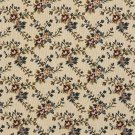 "54"""" Wide F674 Beige, Red And Green, Floral Vine Tapestry Upholstery Fabric By The Yard"