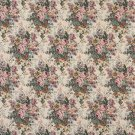 "54"""" Wide H120 Pink, Green And Burgundy, Floral Bouquet Tapestry Upholstery Fabric By The Yard"