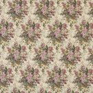 "54"""" Wide H119 Green And Pink, Floral Bouquet Tapestry Upholstery Fabric By The Yard"
