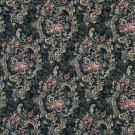 "54"""" Wide F642 Navy, Gold And Burgundy, Floral Tapestry Upholstery Fabric By The Yard"