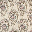"54"""" Wide B773 Burgundy, Green And Blue, Floral Tapestry Upholstery Fabric By The Yard"